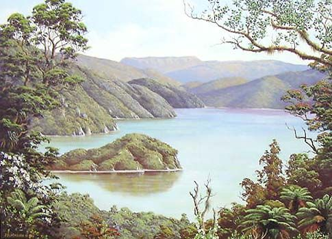 Check out Lake Okataina and Mt Tarawera by Jeanette Blackburn at New Zealand Fine Prints