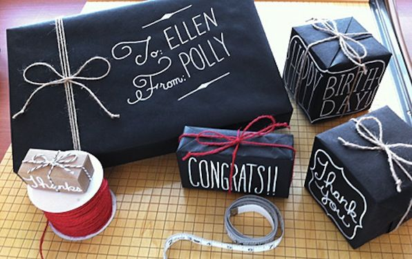Other Inspiration: I just think this is a really cool idea! The chalkboard paper also provides a black and white color scheme, which is really pretty and classy.