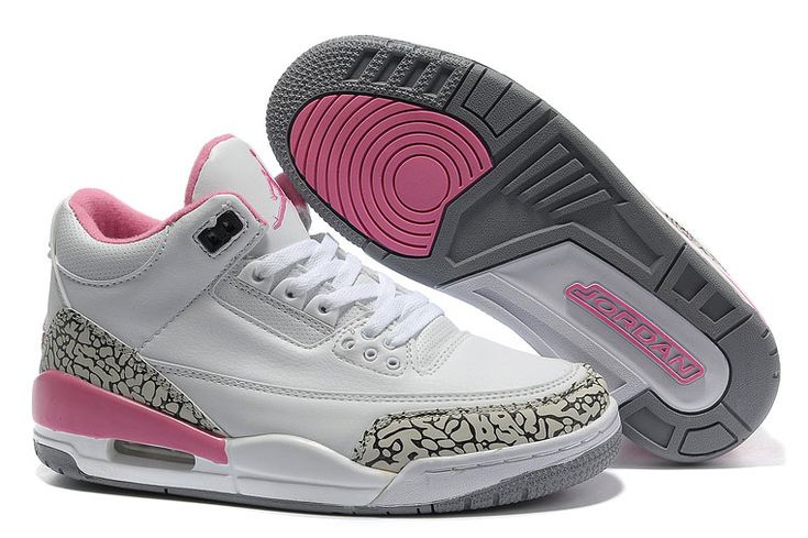 Women Air Jordan 3 White Cement/Grey-Pink [Women Air Jordan 3 White Cement/Grey-Pink] - $77.00 : New Jordans 2012