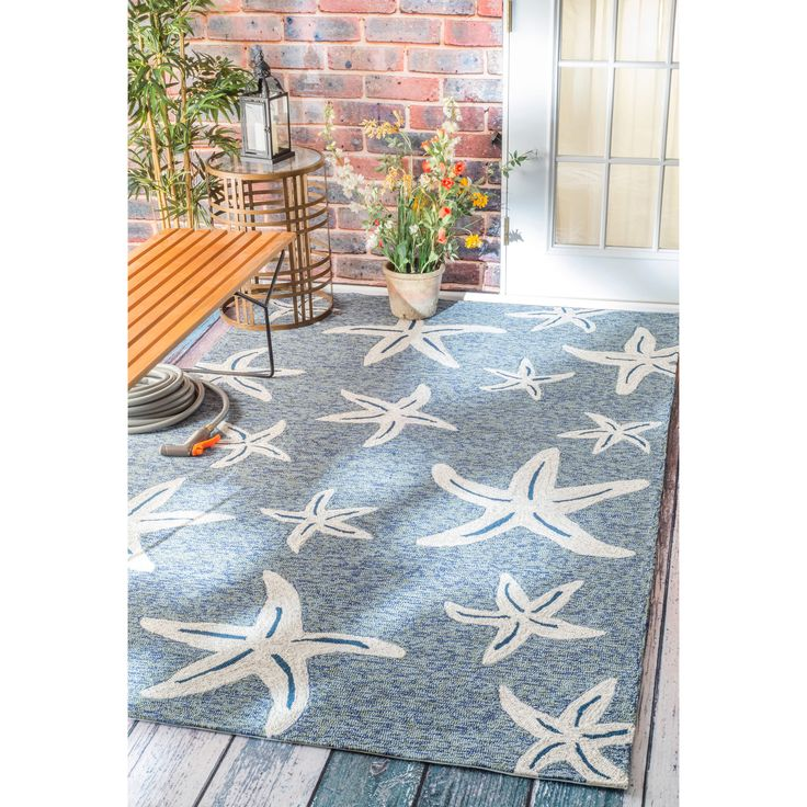 This area rug rug is crafted with easy-to-clean Polypropylene yarns that prevents shedding, unlike wool.  This rug is durable enough for outdoor usage, but soft enough to be used inside the home, as well.