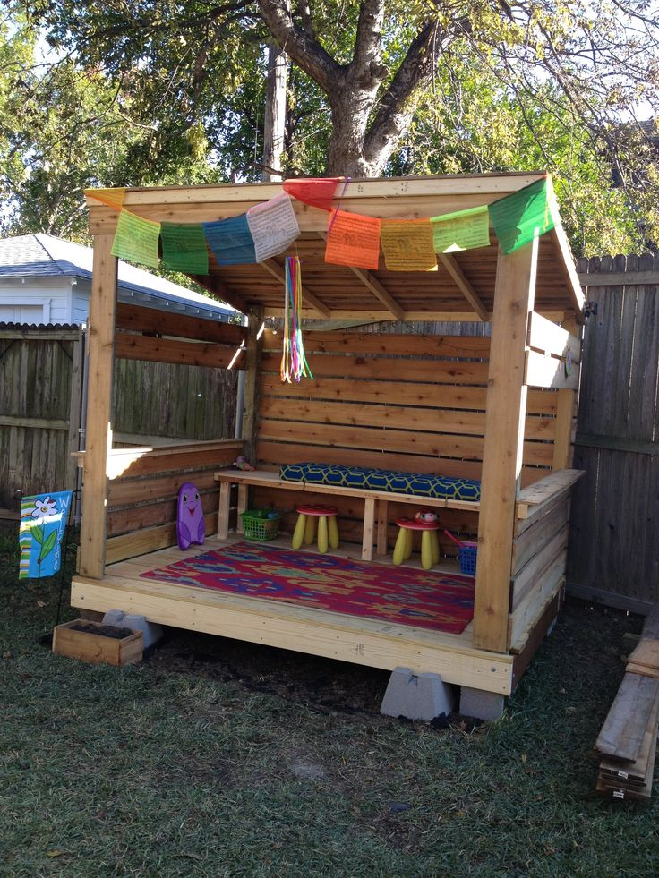 Best 25 simple playhouse ideas on pinterest backyard for Cost to build a playhouse