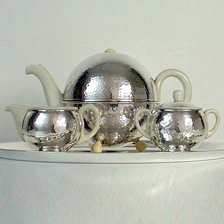 Bauhaus Coffee Set Silver