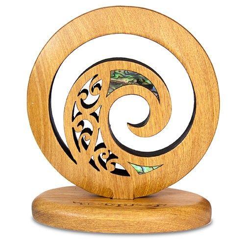 Freestanding Koru Whakariro Carving