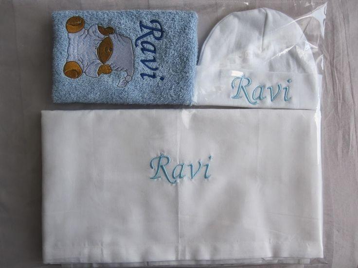 Borduur en naaimachine creaties: Geboortecadeautje borduren in opdracht