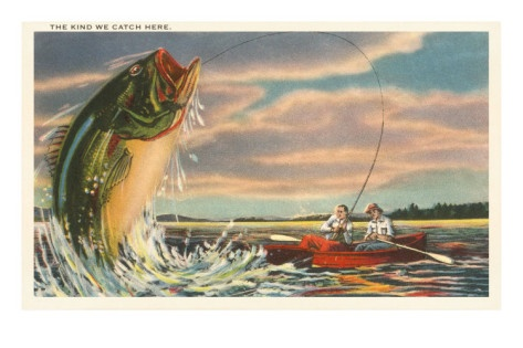 31 best fishing themed tin sign wall decor images on for Big fish printing