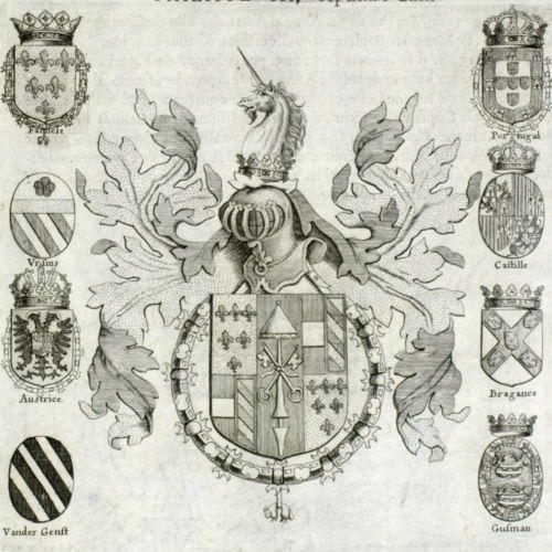 Armoirie-Ranuce-Ier-Farnese-Ranuccio-Parme-Blason-Licorne-Chevalier-Toison-dor