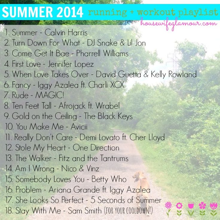Summer 2014 Running + Workout Playlist :: housewifeglamour.com :: #FitFluential