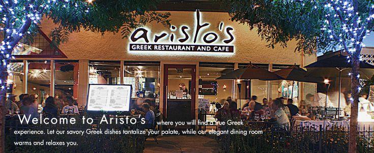 Aristos - Greek, next to Market Street Grill  http://www.aristosrestaurant.com