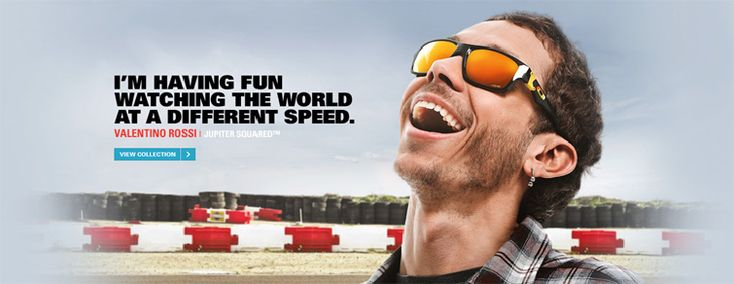 Life in the fast lane. Oakley is a proud sponsor of Valentino Rossi!