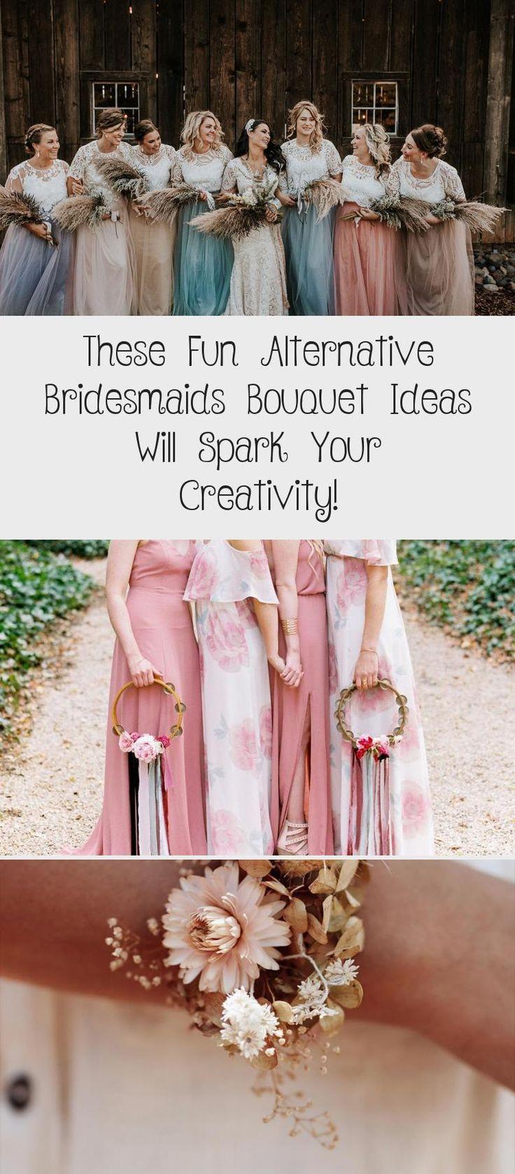 These Fun Alternative Bridesmaids Bouquet Ideas Will Spark Your Creativity! - Green Wedding Shoes