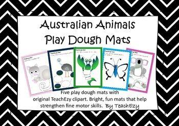 Play Dough Maths: Five play dough mats with original TeachEzy clipart. Bright, fun mats that help strengthen fine motor skills.