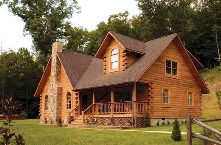 70 Fantastic Small Log Cabin Homes Design Ideas (26