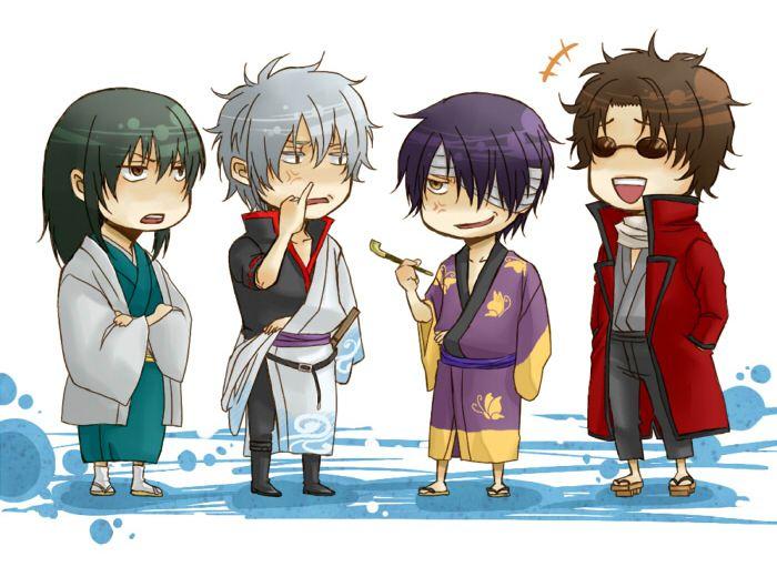 Pixiv Id 1438157, Gin Tama, Takasugi Shinsuke, Sakata Gintoki, Sakamoto Tatsuma, Katsura Kotaro