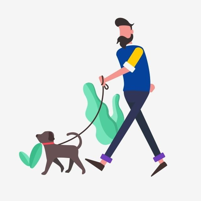 Flat Wind Man Walking A Dog Flat Wind Hyena Man Png Transparent Clipart Image And Psd File For Free Download In 2021 Pattern Art Dog Vector Clip Art