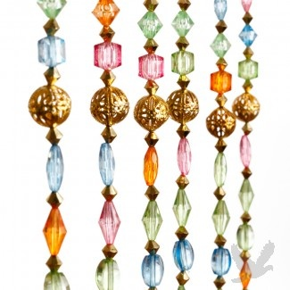 1u0027 Foot Beaded Curtain Panels   Hand Strung Beaded Curtain Spring Colors