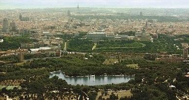 Panorámica de Madrid, vista aérea desde la Casa de Campo.