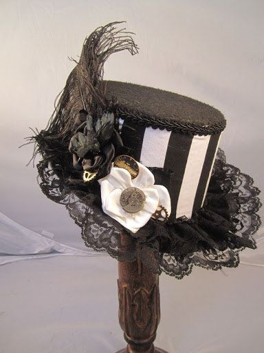 STEAMPUNK TOP HATS Steampunk Store Small Top Hat by EmilyWayHats