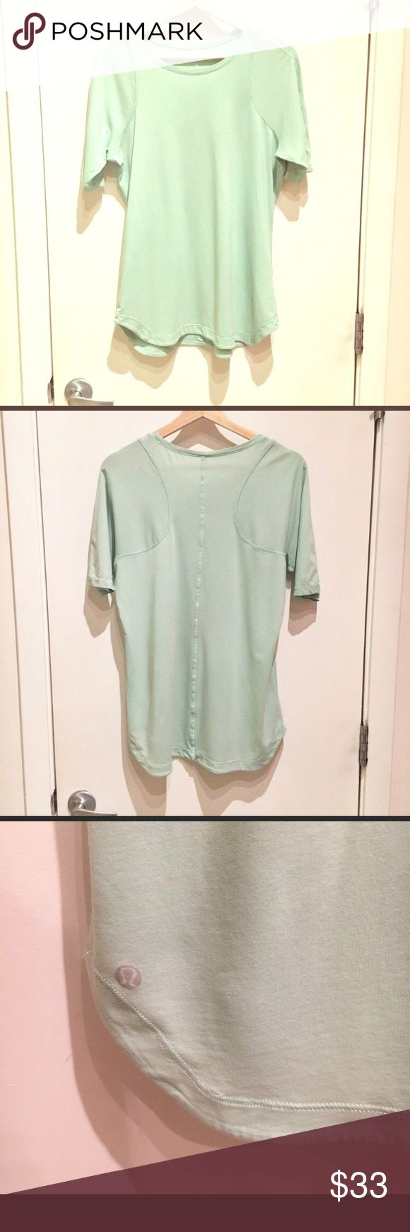 🍋 lululemon Baseball Henley tee mint green 10 12 EUC! Washed in dreft and line dried. Size 12 but fits more like a 10 lululemon athletica Tops Tees - Short Sleeve