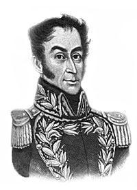 simon bolivar primer presidente de  colombia