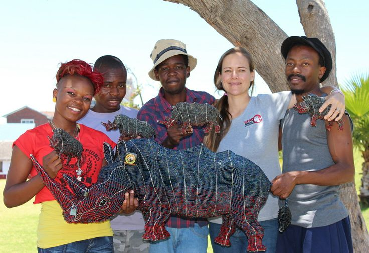 Elise with some of the team last week at the handover of R22 000, the funds raised from the www.lockedhornproject.com  June-Dec 2013
