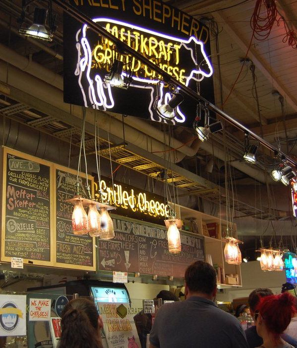 Philadelphia's Reading Terminal Market >>> I love this place. When I worked on a conference, our hotel was just across the street, and we'd have the greatest time there in between conference duties.