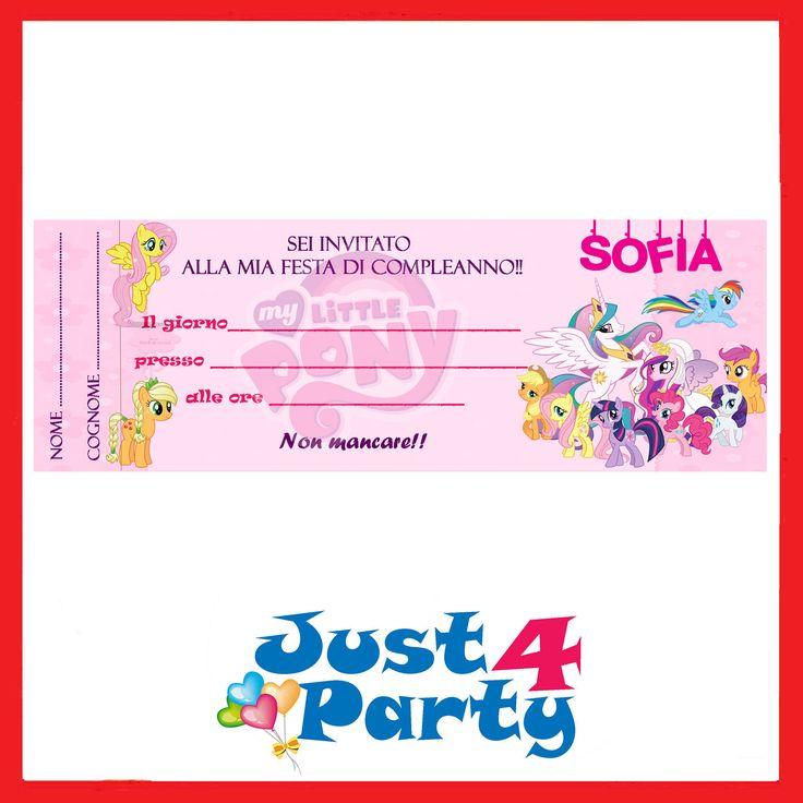 Inviti festa MY LITTLE PONY, novità - 30 INVITI - compleanno personalizzabile | Casa, arredamento e bricolage, Feste e occasioni speciali, Feste e party | eBay!