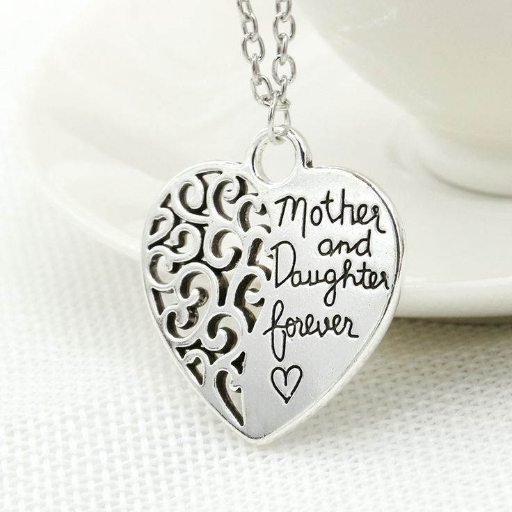 Heart shaped Pendant Necklace for Mothers and Daughter this Christmas //Price: $14 & FREE Shipping //     #jewelry