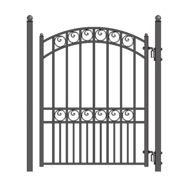 Aleko Steel Pedestrian Gate Paris Style 5 Ft Pgpar Ap Product