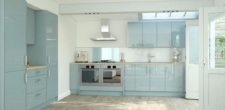 Pacrylic Blue Quartz Gloss Kitchen