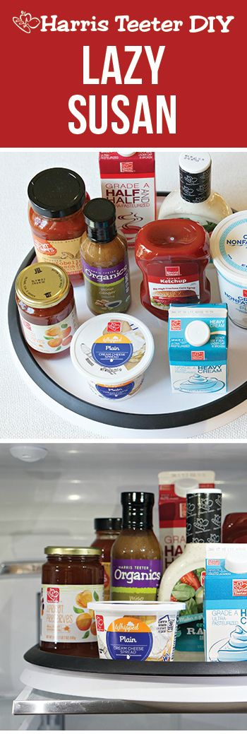 Get organized with this Lazy Susan kitchen hack and stop guessing what's hiding in the back of your refrigerator. #TeeterTip
