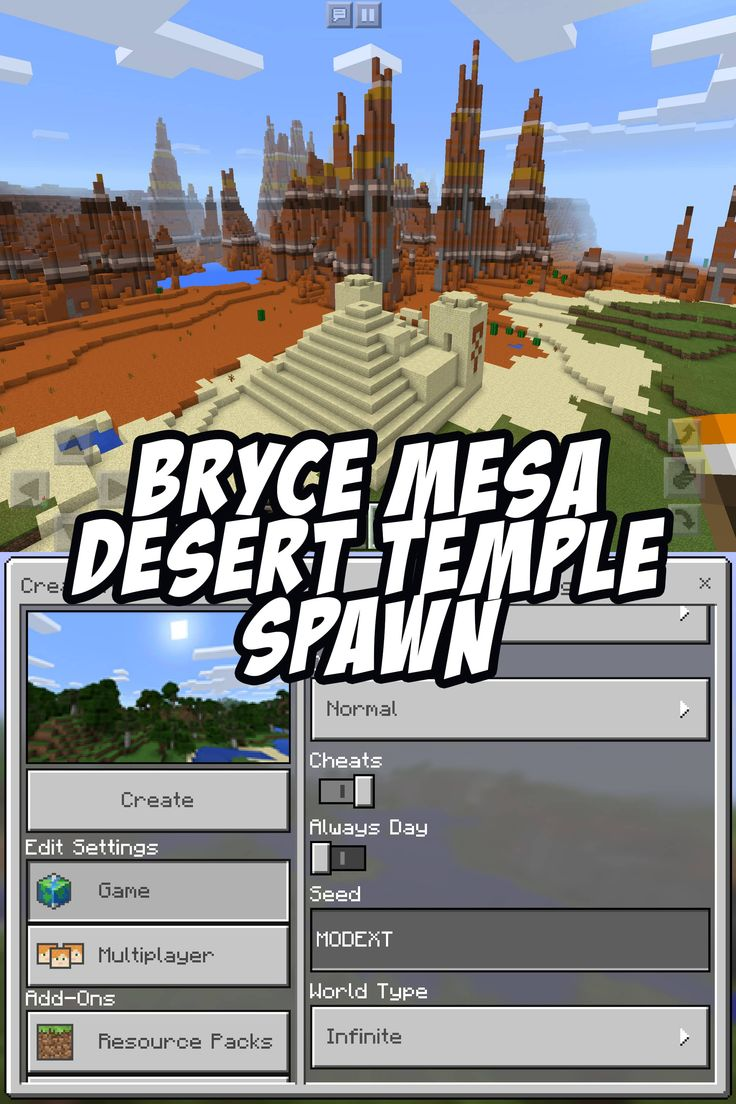 Bryce Mesa Seed - Desert Temple Spawn - Seed:MODEXT