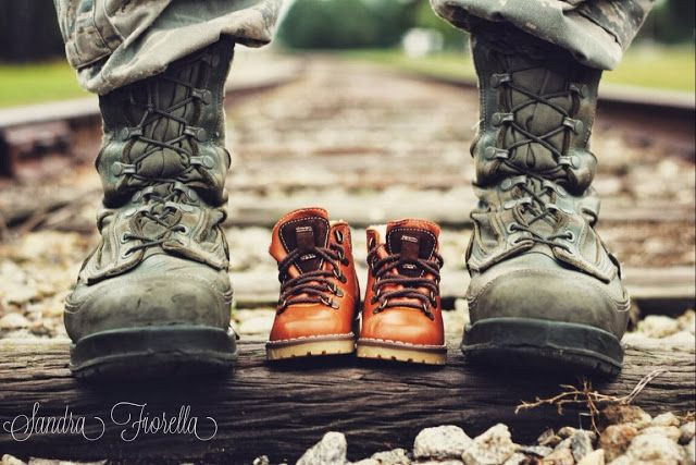 Baby Military Boots! Military maternity photography. USAF.