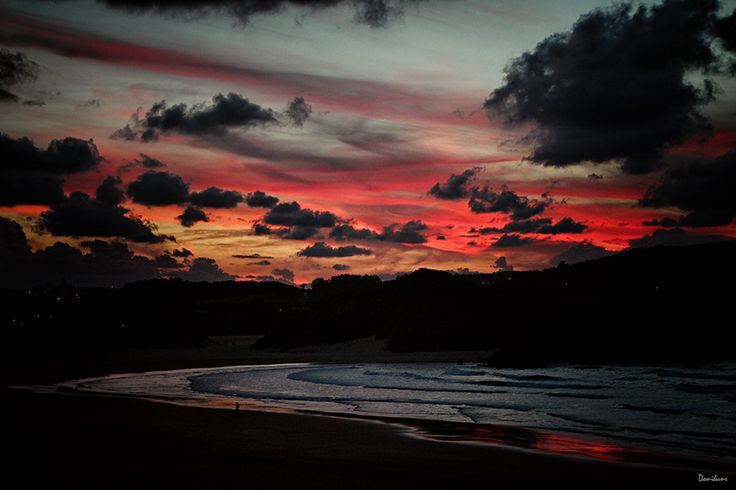 Sunrise at Noja´s Beach. Cantabria, Spain. By Donibane 2017
