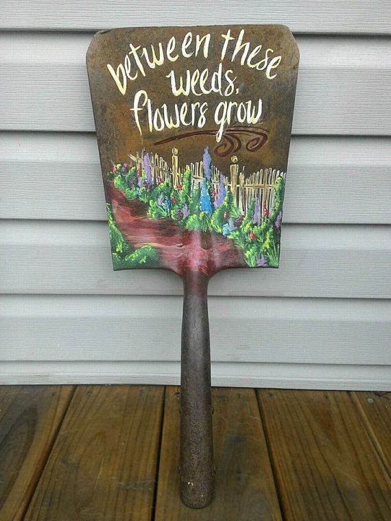 Hand Painted Shovel Head by amcattic on Etsy