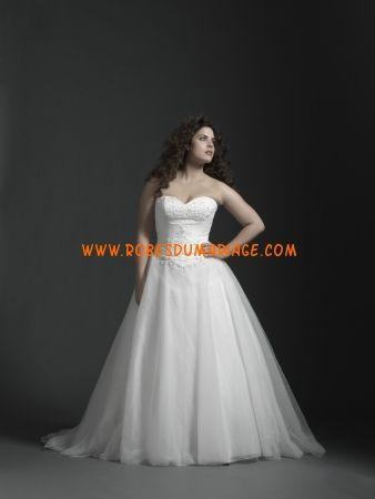 Sincerity Plus belle robe de mariée grande taille longue ornée de perle organza Style 4533 Robe