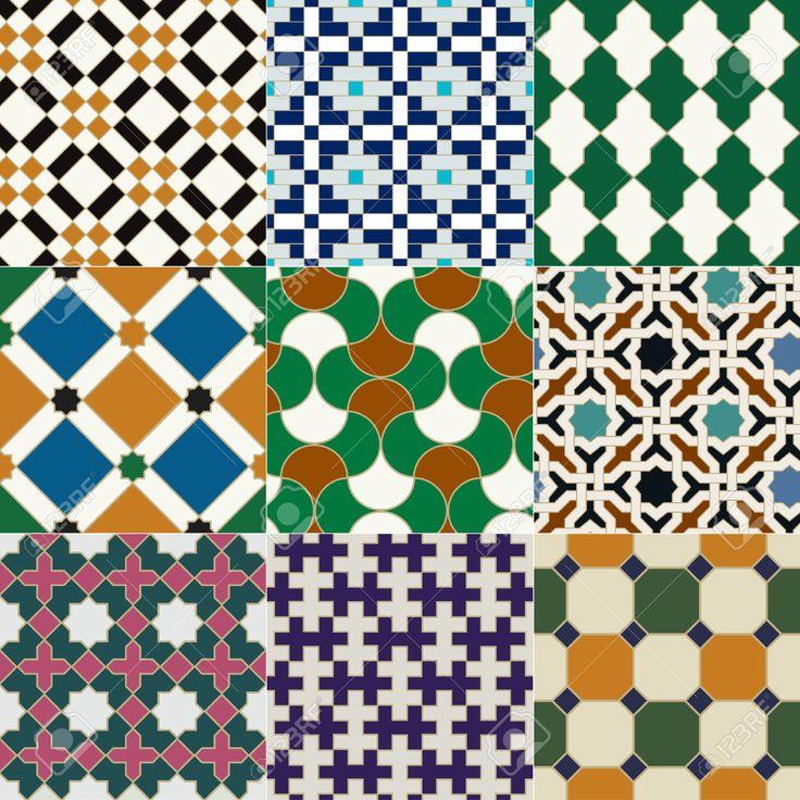 senza soluzione di piastrelle islamico disegno geometrico