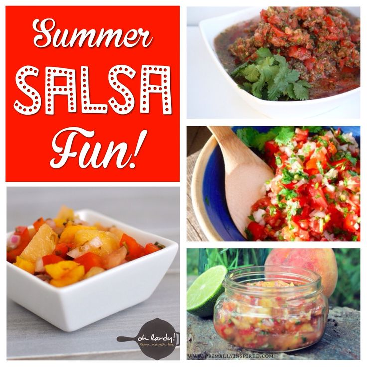 Summer Salsa Fun! Over 20 salsa recipes to choose from. Mmmm!