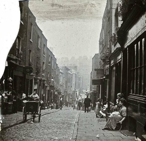 In 1899, I went on a study trip to London. This is an image of a London street in the 1890's