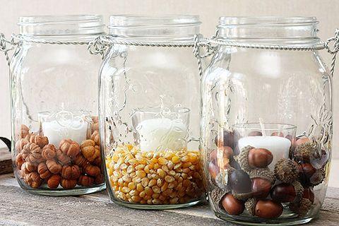 mason jars pottery barn knockoff fall decor, home decor, mason jars, seasonal holiday decor