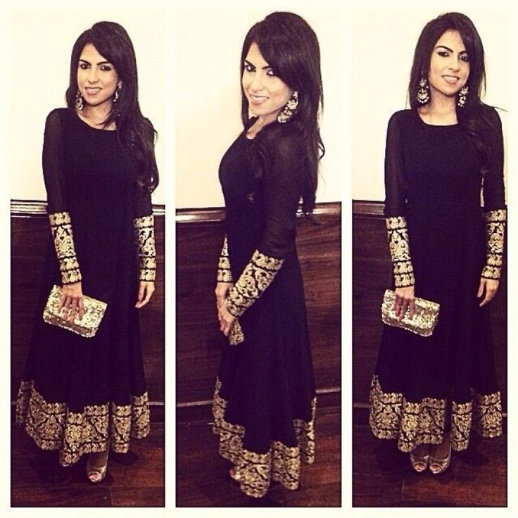 Bollywood Replica - Designer Black Colour Pure Georgette Salwar Suit - 7070 (IB-654)