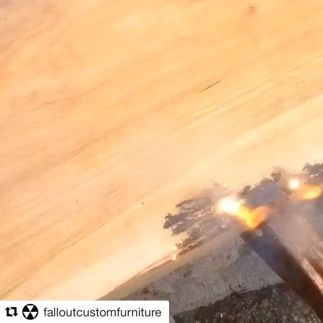We had to repost another @falloutcustomfurniture electro spalting video, they're just the coolest . . . . . . . . . #repost #falloutcustomfurniture #factory163 #stratford #stratfordon #stratfordontario #create #electrospalting #electricity #furniture #furnituredesign #cherry #cherrywood #homedecor #interiordecor #home #homedesign #furnituremaker #design #interiordesign #spark