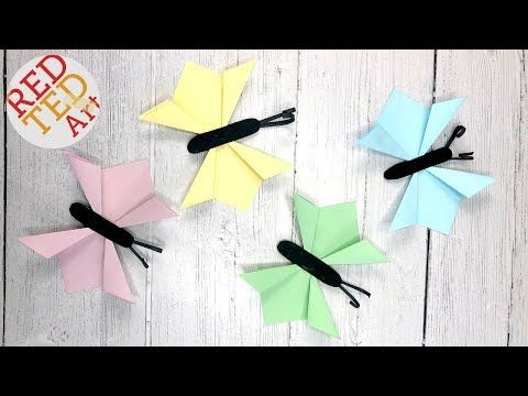 Easy Origami Butterfly Tutorial - How To Make An Origami Butterfly ...   360x480