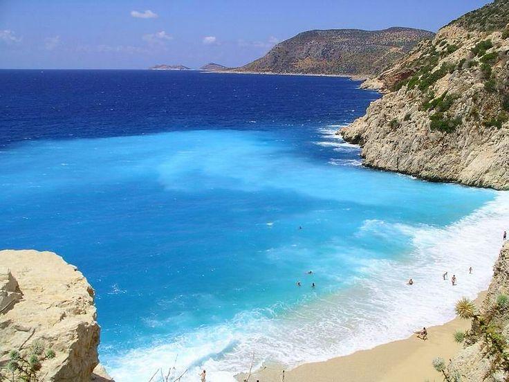 Kas - one of my top 3 places on earth.  Kaputas Beach - Kas, Antalya, Turkey