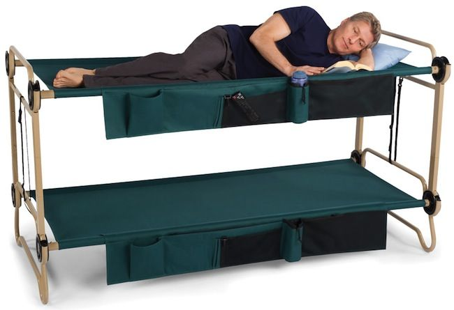 Folding bunk beds could come in handy on a big enough boat for Portable bed ideas