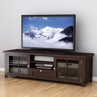 Sonax Arbutus Dark Espresso Stained Wood Veneer 63-inch TV Bench | Overstock.com Shopping - Great Deals on Sonax Entertainment Centers