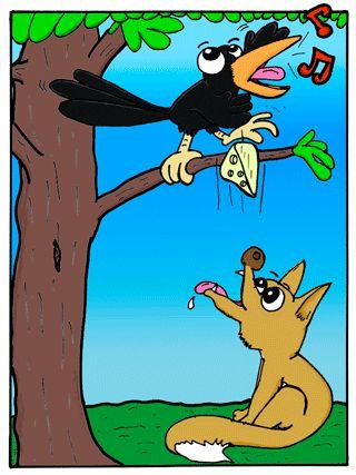 La zorra y el cuervo Rincón de lecturas de Sallita para cuarto grado de la escuela primaria