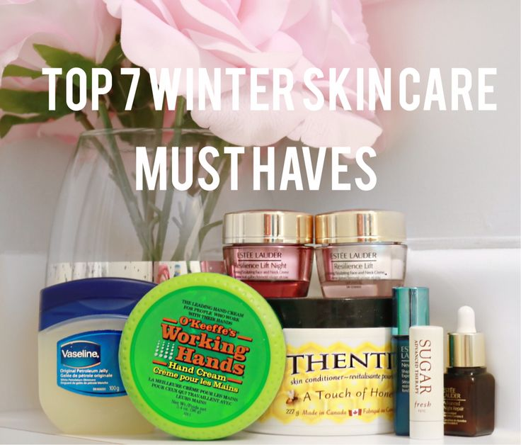 Winter MUST HAVE skincare items for dry skin and chapped lips.
