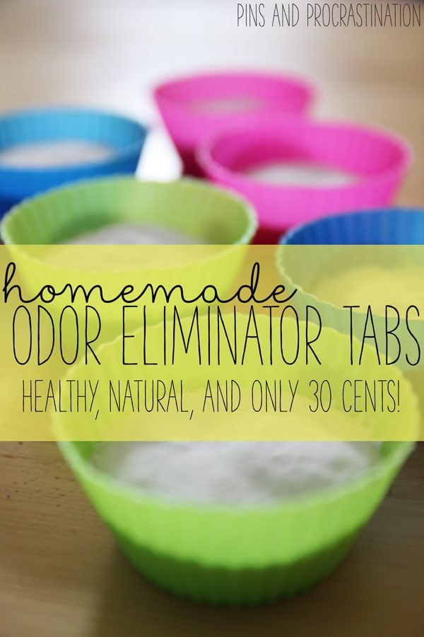 homemade odor eliminator tabs green