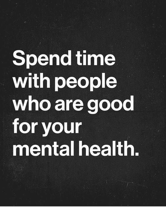 Spend time with people who are good for your mental health. Yeah baby, this is totally  #WildlyAlive! #selflove #fitness #health #nutrition #weight #loss LEARN MORE →  www.WildlyAliveWeightLoss.com