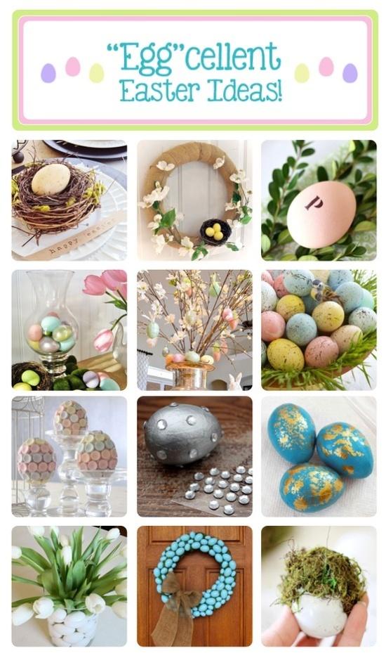 39+ adorable DIY Easter ideas !  Including Epsom salt covered plastic eggs!